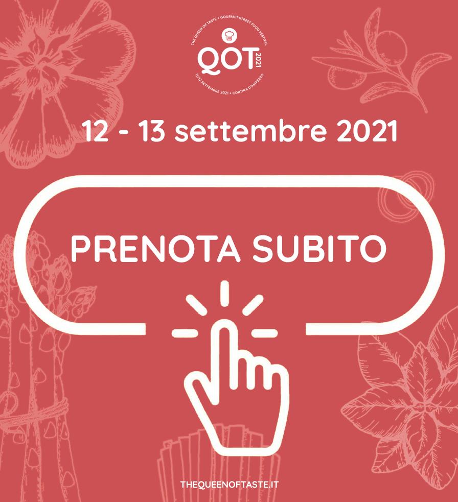 Prenota il tuo posto al The Queen Of Taste dal 12 - 13 settembre 2021 a Cortina d'Ampezzo